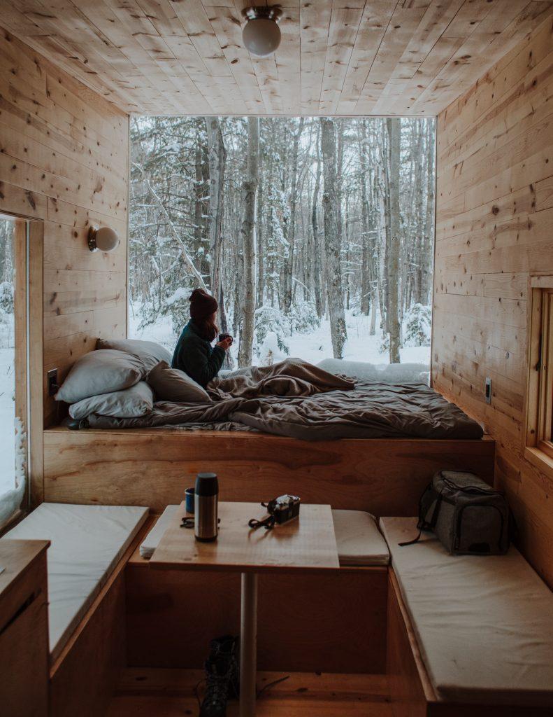L'intérieur cosy d'une tiny House